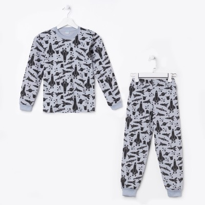 Пижама для мальчика, цвет серый, рост 134 см