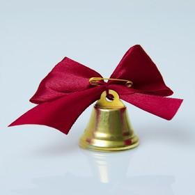 Bell Zvonochek, satin bow , Burgundy
