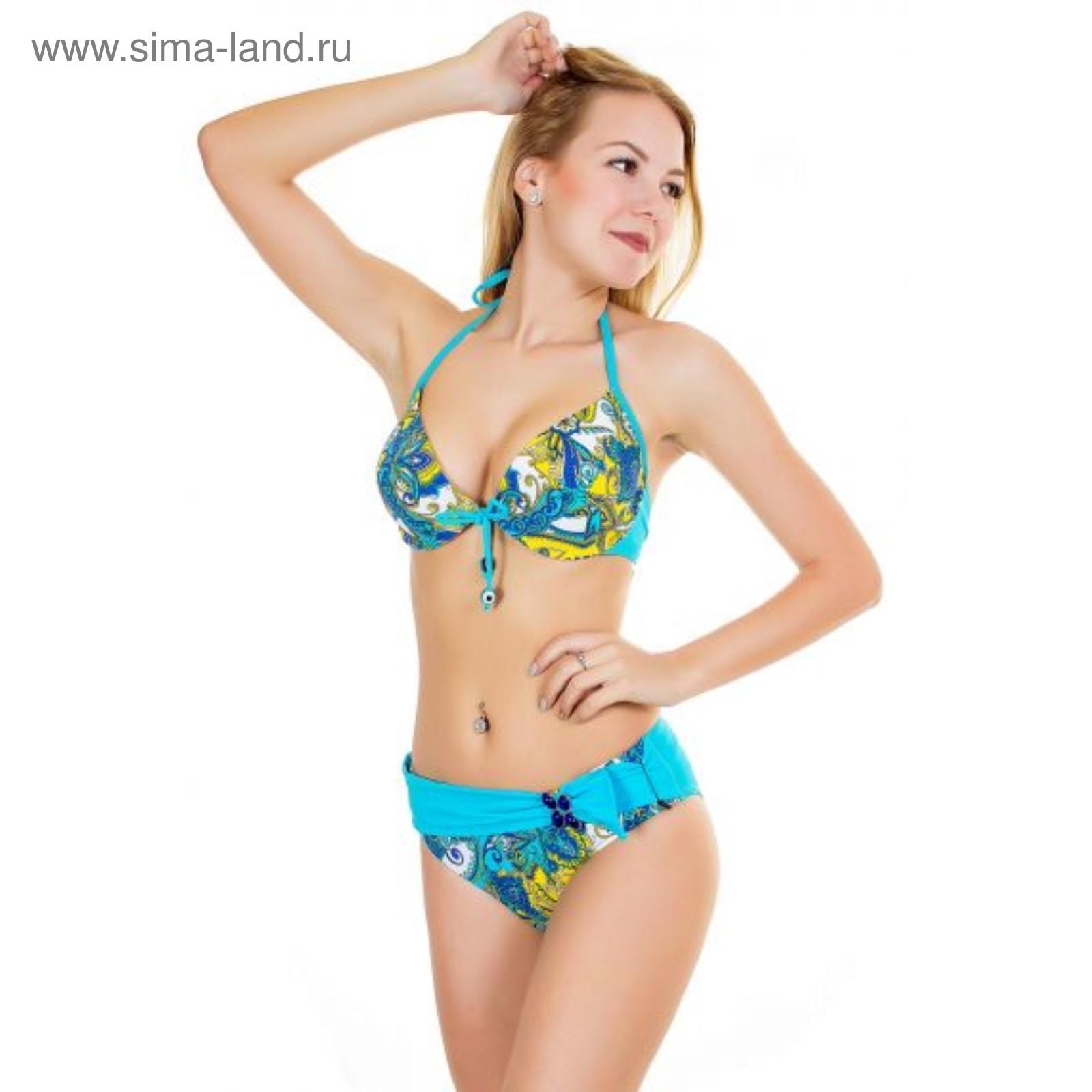 515145c908b54 Купальник женский раздельный 11077 цвет голубой, р-р 46-48 (L ...