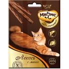 Деликатес лакомые палочки Мнямс для кошек, с лососем и манго, 9 см, 3 х 4 г