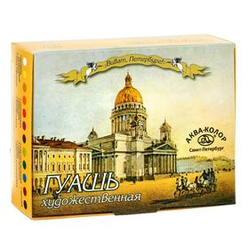 Гуашь художественная, набор, 12 цветов х 20 мл, «Аква-Колор», «Виват Санкт-Петербург!»,