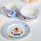 Набор посуды «Пираты»: кружка 250 мл, глубокая тарелка 430 мл, тарелка Ø 15 см - фото 105459271