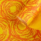 """Бумага для декорирования. """"Грандесс"""" Оранжевый/Жёлтый 0,7 х 5 м"""