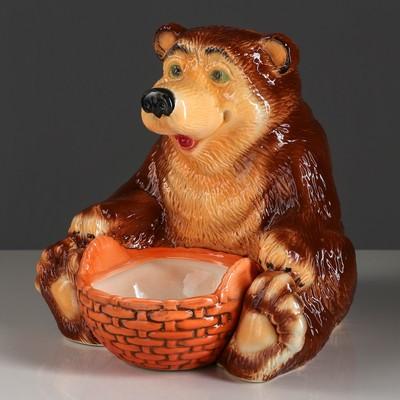 """Конфетница """"Медведь с корзиной"""""""