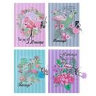 Записная книжка подарочная, формат А6, 50 листов, в линейку, на замке, «Фламинго», МИКС