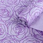 """Бумага для декорирования """"Цветы"""", сиреневый-фиолетовый, 0,7 х 5 м"""