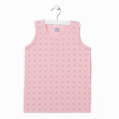 Майка для девочки А.10824-16, цвет розовый, рост 104