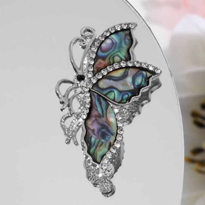 """Брошь """"Галиотис"""" бабочка со сложенными крылышками, в серебре - фото 234150978"""