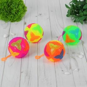 Мяч световой 'Бумеранг' на резинке 7,5 см, цвета МИКС Ош