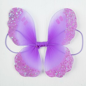 Миниатюра кукольная - крылья на резинке «Сияние», цвет фиолетовый