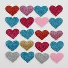 Сердечки декоративные, набор 20 шт., размер 1 шт: 3,5×2,5 см, цвета МИКС
