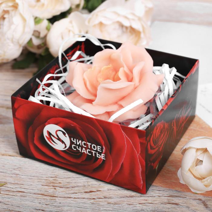 """Фигурное мыло в подарочной коробке """"Поздравляю с 8 марта""""  жасмин ПВС"""