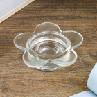 "Glass candle holder 1 candle ""Flower"" transparent 2x7,7x7,7 cm"