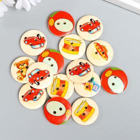 """A set of buttons decorative """"toys"""" set 15 PCs MIX 2,3x2,3 cm"""