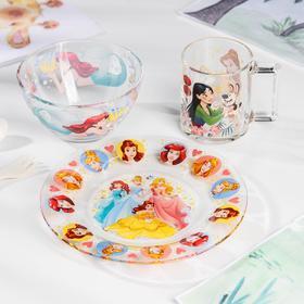 Набор для завтрака «Принцессы», 3 предмета