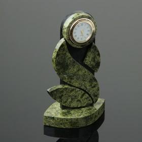 """Часы """"Куколка"""", 9х5х16 см, змеевик"""