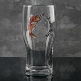 "Бокал для пива 570 мл ""Тюлип. Рыбалка"", рисунок МИКС"