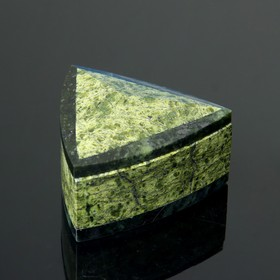 Шкатулка 'Треугольник', 9,5х9,5х5 см, змеевик Ош