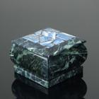 Box 8,5x8,5x8 cm, serpentine, lapis lazuli