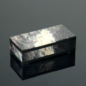 "Шкатулка ""Омега"", 13,5х6,5х4,2 см, долерит, яшма"