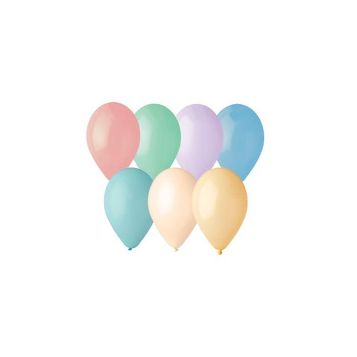 """Шар латексный 12"""" Macaron, пастель, набор 100 шт., МИКС - фото 798166229"""