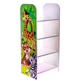 Стеллаж «Жираф», цвет белый, зелёный
