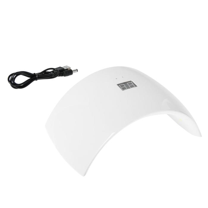 Лампа для гель-лака LuazON LUF-21, LED, 24 Вт, 15 диодов, таймер, белая