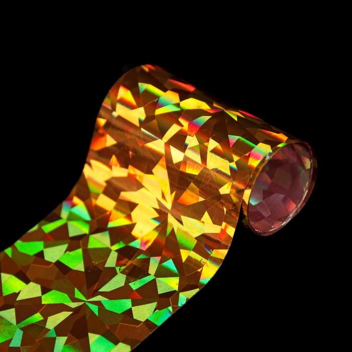 Переводная фольга для декора «Битое стекло», 4 × 80 см, цвет золотистый