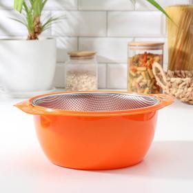 A colander with a bowl Raduga 21 cm, MIX color