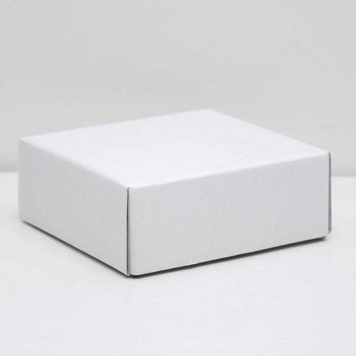 Коробка сборная без печати крышка-дно белая без окна 14,5 х 14,5 х 6 см