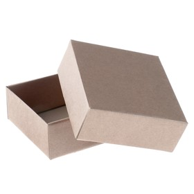 Team box without printing cover-bottom brown without window 14.5 x 14.5 x 6 cm