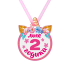 """Children's tin medal """"I'm 2 years old"""", the unicorn"""