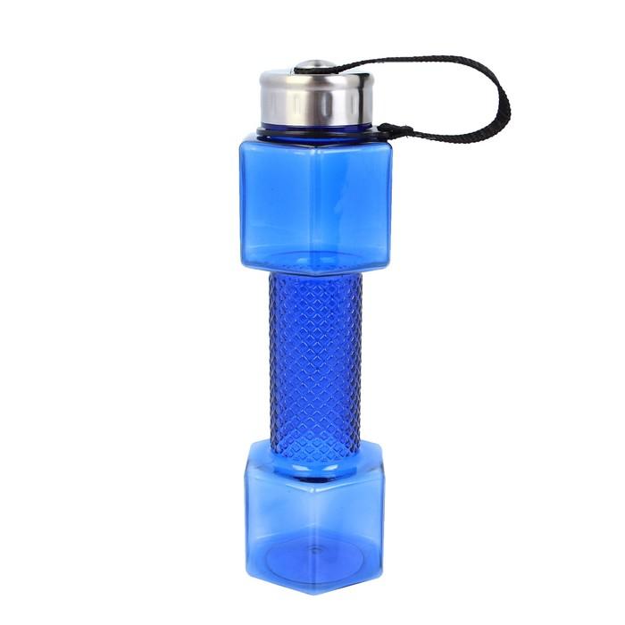 """Бутылка для воды """"Гантель"""", 700 мл, спортивная, 25.5 × 7 см, МИКС"""