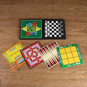 Игра настольная 9 в 1, магнитная: шахматы, шашки, нарды, крестики-нолики, китайские шашки, змеи и лестницы, лудо, футбол, 9 людей Морриса Ош