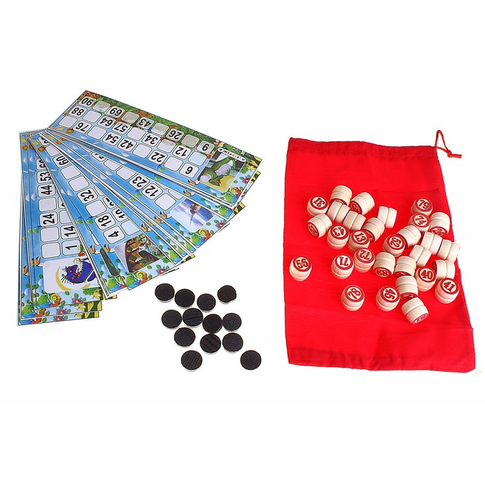 """Игра настольная """"Русское лото"""", 24 карты, в пакете"""