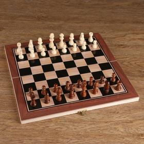 Шахматные фигуры, дерево, высота короля 5.5 см, в пакете  микс