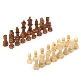 Шахматные фигуры, дерево, высота короля 9см,  29х29 см,без доски, в пакете