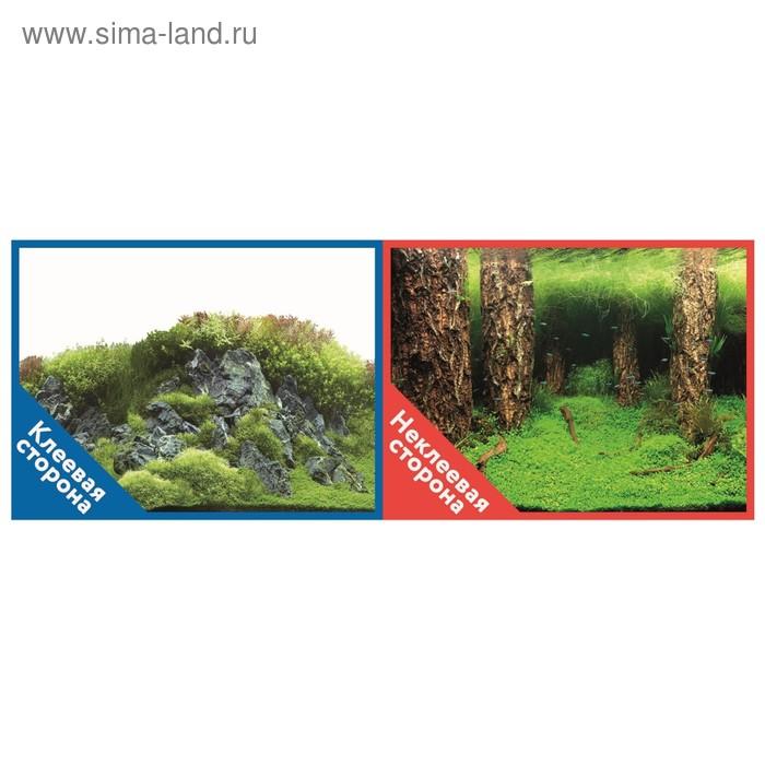 Фон двусторонний PRIME с клеевой стороной «Камни с растениями», 30 x 60 см