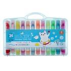 Фломастеры, 24 цвета, в пластиковом пенале, «Мишка»