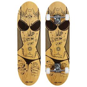 Скейтборд подростковый «Женщина», 71х20 см, колёса PVC d=50 мм Ош