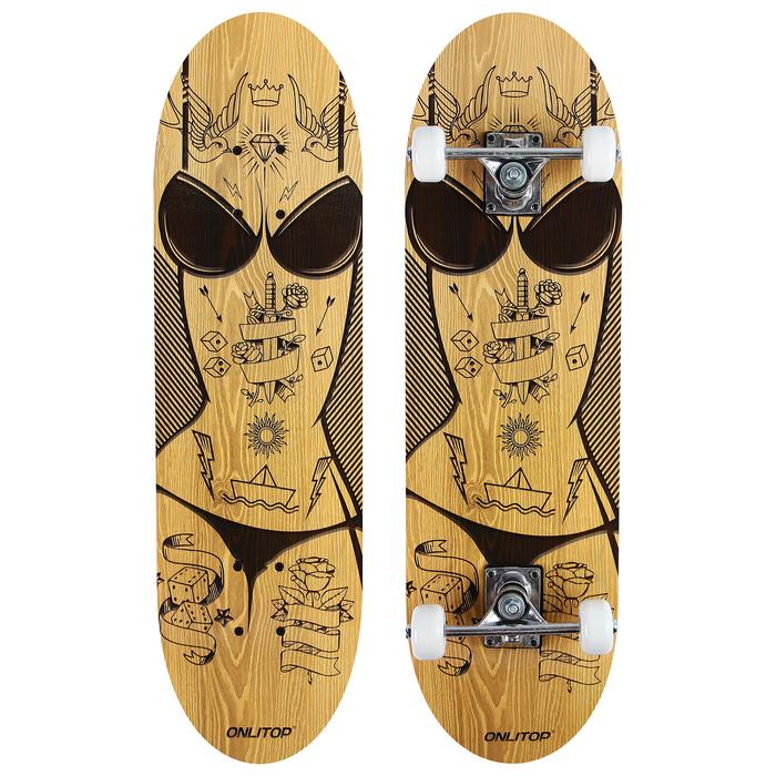 Скейтборд подростковый «Женщина», 71х20 см, колёса PVC d=50 мм