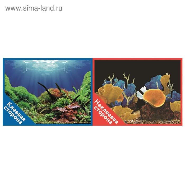 Фон двусторонний PRIME с клеевой стороной «Подводный мир», 30 x 60 см