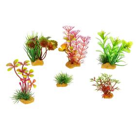 Набор пластиковых растений PRIME, 6 шт.