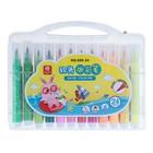 Фломастеры, 24 цвета, в пластиковом пенале, с кистеобразным наконечником, «Пляж»