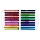 Фломастеры, 24 цвета, в пластиковом пенале, треугольные, вентилируемый колпачок, «Рыбка» - фото 7261846