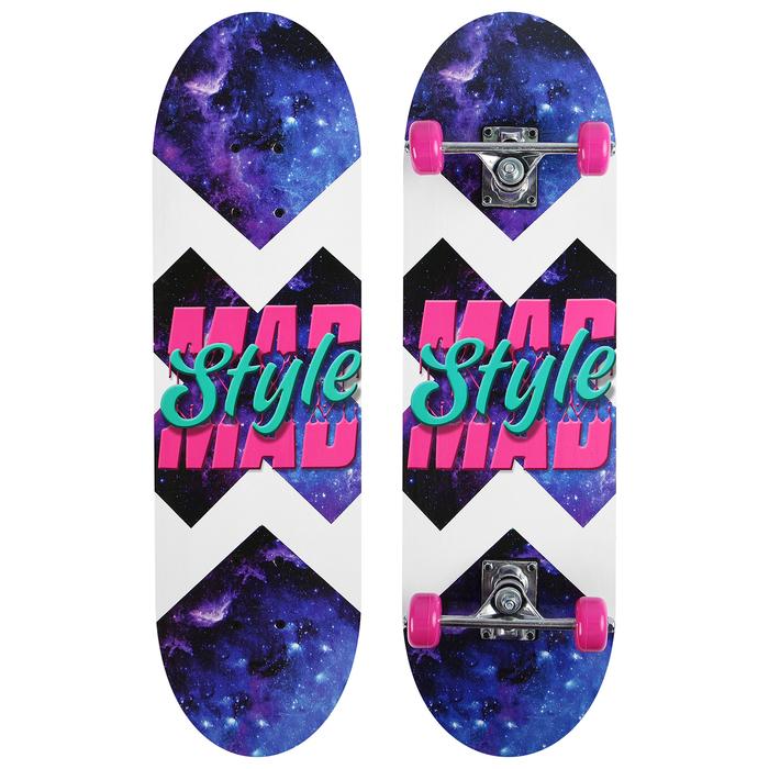 Скейтборд подростковый MAD STYLE, 71х20 см, колёса PVC d=50 мм
