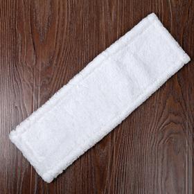 """Насадка для плоской швабры 40×10 см """"Soft"""", микрофибра, цвет белый"""