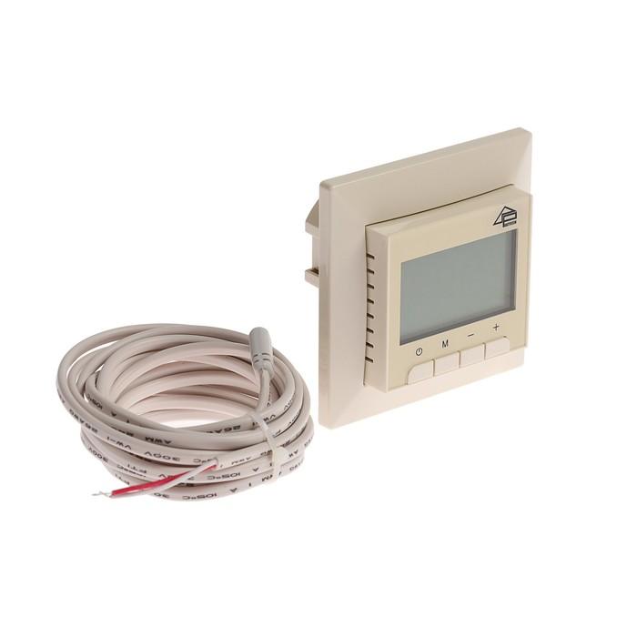 Терморегулятор Priotherm PR-119, 3600 Вт, 2 датчика температуры, NTC 3 м, бежевый