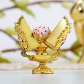 Пасхальное яйцо-шкатулка «Верба. Кулич»