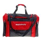 Сумка-трансформер дорожная, 1 отдел, 3 наружных кармана, длинный ремень, черно-красная